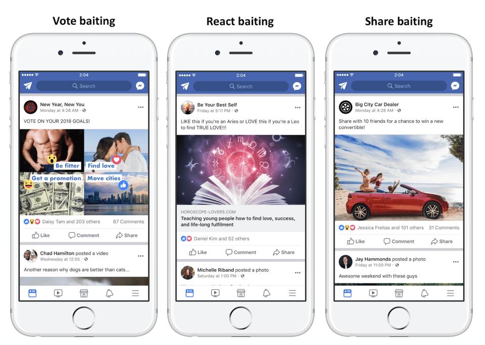 Aktivitás vadász poszt minták a Facebooktól