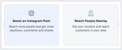 Instagram poszt kiemelés indítása a Facebook oldalról