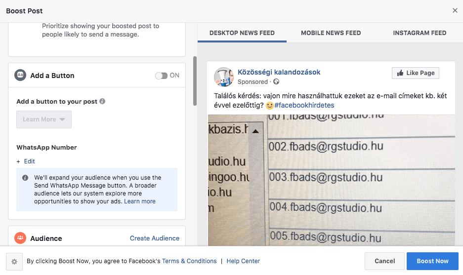 A bejegyzés kiemelések kezelése sokat finomodott. Plusz már a Whatsapp fiókunkat is össze tudjuk kapcsolni vele.