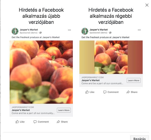 A régi FB app felhasználók egy átalakított verziót fognak látni.